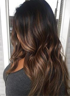 Most beautiful brunette ombre hair colors for long haircuts in 2017-2018.