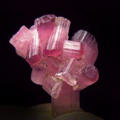 Pink Tourmalilne crystals