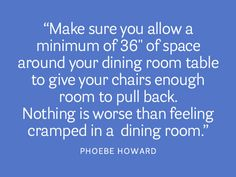 Add space in your dining room. housebeautiful.com. #dining_room #designer_tips