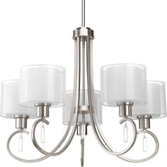 Progress Lighting Invite Collection 5-Light Brushed Nickel Chandelier-P4696-09 - The Home Depot