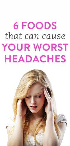 6 headache trigger foods to avoid
