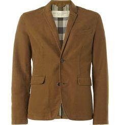 ++ unstructured cotton moleskin blazer