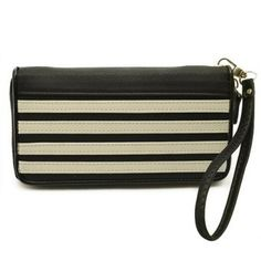 Fashion Color Block Stripes Design Clutch Wallet For Women, BLACK in Women's Wallets Clutch Wallet, Clutch Bags, Couple Items, Black Wallet, Fashion Colours, Stripes Design, Wallets For Women, Women's Wallets, Purses