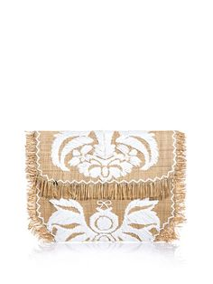 ANYA HINDMARCH  embroidered summer clutch SS 2013