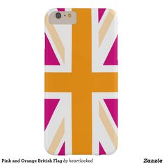 Pink and Orange British Flag Barely There iPhone 6 Plus Case