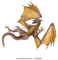 dragon the fall - stock photo