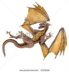 dragon the fall - stock photo