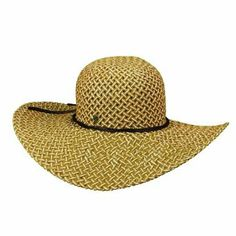 Tommy Bahama Women's Basket Weave Paper BIG Brim Hat