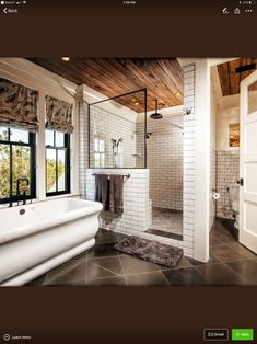 Don't know what to do with your large master bathroom? We have assembled 20 stunning photos of large master bathroom design ideas to help you out! Bad Inspiration, Bathroom Inspiration, Dream Bathrooms, Beautiful Bathrooms, Master Bathrooms, Tile Bathrooms, Master Baths, Master Bath Tile, Luxury Bathrooms
