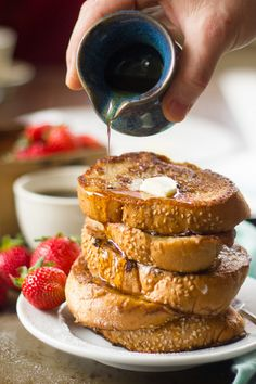 Chai Coconut Milk Vegan French Toast- I like to use arrowroot powder instead of corn starch