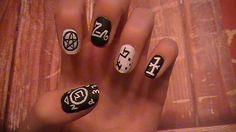 I want my nails to be like this Supernatural Nails, Cute Nails, My Nails, Fandom Fashion, Super Natural, Nail Care, Girly Things, Nail Art Designs, Geek Stuff