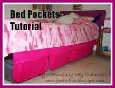 Bed pockets - a tutorial DIY