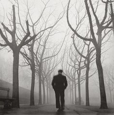 """""""My real self wanders elsewhere, far away, wanders on and on invisibly and has nothing to do with my life."""" ― Hermann Hesse    /   Herbert Tobias - Montparnasse, Paris, 1952"""