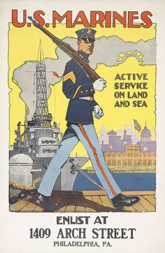 U.S. Marines, Active Service on Land and Sea WWI
