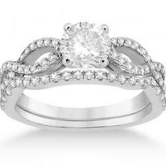 twisted band engagement ring. I like how the wedding band fits right up against it.