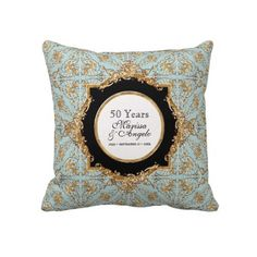 Black Tie Elegance 2, Golden Wedding Anniversary Pillows