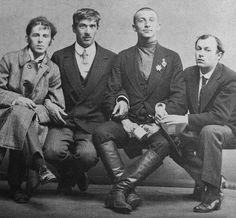 Osip Mandelshtam, Korney Chukovsky, Benedikt Livshits, Yuri Annenkov