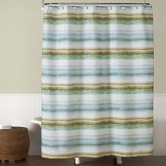 Style Lounge Shower Curtain. Everglades Shower Curtain  BedBathandBeyond com Style Lounge Landon Yarn Dyed Woven Blue