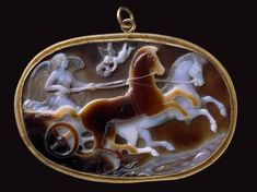 Cameo with Victory driving a chariot, Roman - late 1st century B.C.–early 1st century A.D. Country of Origin, Italy.