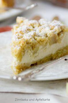 Rhabarber-Cheesecake mit Streuseln - Zimtkeks und Apfeltarte