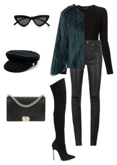 """""""Untitled #121"""" by jsmalves ❤ liked on Polyvore featuring Le Specs, Proenza Schouler, Yves Saint Laurent, Casadei, Manokhi and Chanel"""