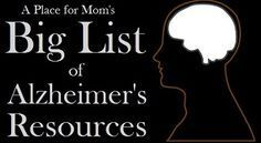 We've started a list of Alzheimer's and dementia resources to act as a guide for anyone who wants to get involved in the fight against Alzheimer's, from fundraising for a cure, to learning about how to cope with difficult behaviors and raising awareness about the disease. A PLACE FOR MOM 09.23.17 #Stagesofdementia