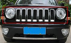 Chrome Front Grille Grill Mesh Grille Insert Kit Head Light Lamp Covers Trim for Jeep Patriot 2011-2015 Year 9 Pcs Silver Sporthway http://www.amazon.com/dp/B011L3EDV6/ref=cm_sw_r_pi_dp_r6pZwb1VRS5WA