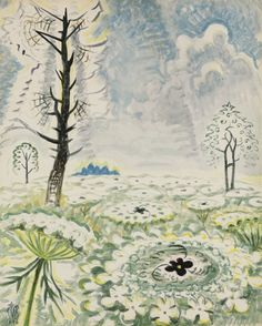 Charles Burchfield (American, 1893-1967), Queen Anne's Lace, 1946. Watercolor and gouache on paperboard, 80 x 64.8 cm