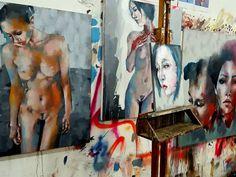 Studio wall with works in progress #fineart #paintings #oils #impasto #figurestudy #thebody #heads #portrait #expressive #creative #inspiration #instaart #artistoninstagram #artoftheday #picoftheday #contemporaryart #studio #workspace http://ift.tt/2es9akz