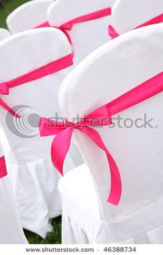 ribbon bow over chair cover