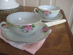 Vintage Tea for Two Set by refindliving on Etsy, $15.00