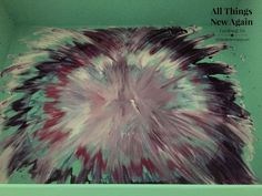 how to create an aura blast design with unicorn spit spitchallenge, painted furniture