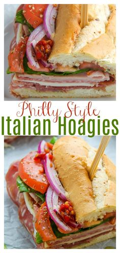 This is the BEST Italian Hoagie recipe around and it's so easy to make! Made with the best hoagie rolls, fresh veggies, cherry pepper hoagie spread, and Italian hoagie meats, this sandwich is exploding with flavor! #hoagies #Italianhoagies #hoagie #hoagierecipes #Italian #Christmasdinner #Christmasappetizers #lunch #sandwiches #Italianmeats #hoagierolls
