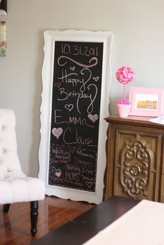 Happy Home: Emma Claire's First Birthday Party Decor