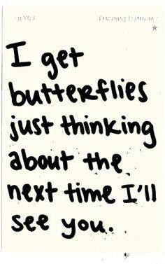I get butterflies