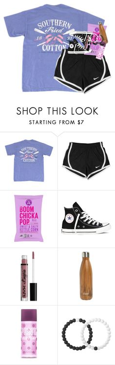 """you will forever be my always"" by classynsouthern ❤ liked on Polyvore featuring NIKE, Converse, NYX, S'well and Lokai"