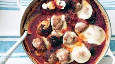 Meatball and Mozzarella Casserole - From the Test Kitchen