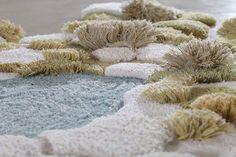 Amazing Art Carpets by Alexandra Kechagioglou Design Textile, Home Textile, Carpet Flooring, Rugs On Carpet, Textile Sculpture, Latch Hook Rugs, Textiles, Weaving Projects, Tapestry Weaving