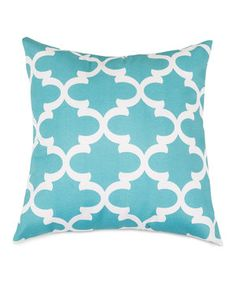 Look what I found on #zulily! Teal Trellis Extra Large Pillow by Majestic Home Goods #zulilyfinds