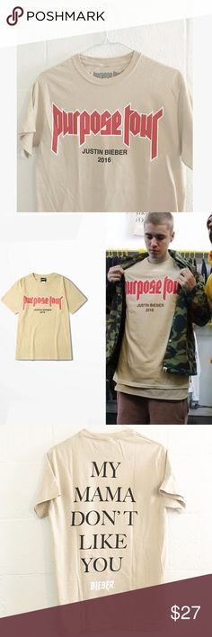 Justin Bieber Purpose Tour Shirt Size S official Justin Bieber tour merch purchased in-concert. Never worn! Tops Tees - Short Sleeve