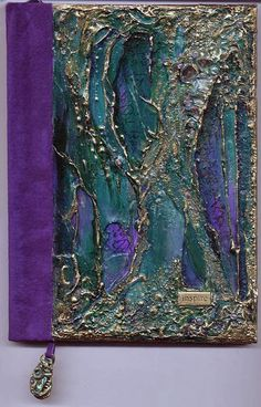 The cover of this journal is very heavily textured with pieces of NZ paua shell added. / by Joy Bathie