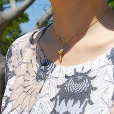 #sharktooth #motif #topaz #necklace by #cristinazazo