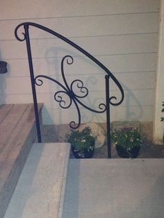 Metal outdoor handrail