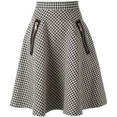 Coast+Weber+Ahaus Full Midi Houndstooth Skirt
