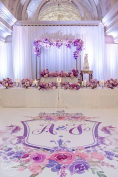 Wedding reception centrepieces in lilac purple white colours roses, event decor ombre style Ombre Wedding Dress, Lilac Wedding, Whimsical Wedding, Floral Wedding, Wedding Colors, Wedding Ideas, Chic Wedding, Dream Wedding, Pink Wedding Decorations