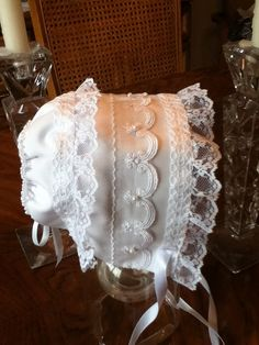 Baby Girl Elegant bonnet Custom order by TearsOfJoybyRuth on Etsy, $35.00