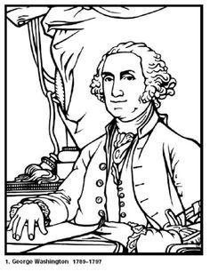 Printable President George Washington coloring page and biography ...