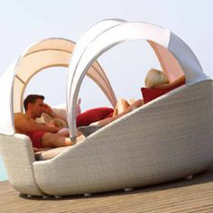 An innovative approach to outdoor seating, the modular Contemporary Outdoor Furniture Eclipse from Gloster creates a comforting summer retreat for both Gloster Outdoor Furniture, Contemporary Outdoor Furniture, Outdoor Furniture Design, Outdoor Wicker Furniture, Modern Furniture, Backyard Furniture, Rustic Furniture, Outdoor Seating, Outdoor Decor