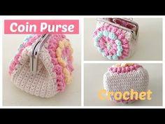 Monedero a crochet con boquilla, con granny squares, My Crafts and DIY Projects                                                                                                                                                                                 Más