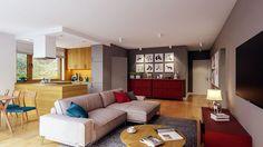 Projekt domu Murator C333u Miarodajny - wariant XVIII 99,20 m² - koszt budowy - EXTRADOM 20 M2, Entryway, Villa, Vogue, Couch, Furniture, Home Decor, Entrance, Settee